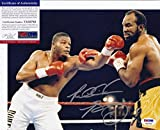 Riddick Bowe Signed Photograph - vs Holyfield 8x10 + COA 7A32782 - PSA/DNA Certified - Autographed Boxing Photos