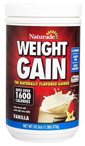 Naturade Weight Gain Instant Nutrition Drink Mix, Vanilla, 16.93 Ounce