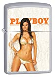 Zippo Lighter: Playboy Cover June 2008 - Satin Chrome