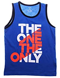 "Carter's Boy's ""The One The Only"" Printed Tank Top; Blue (4T)"