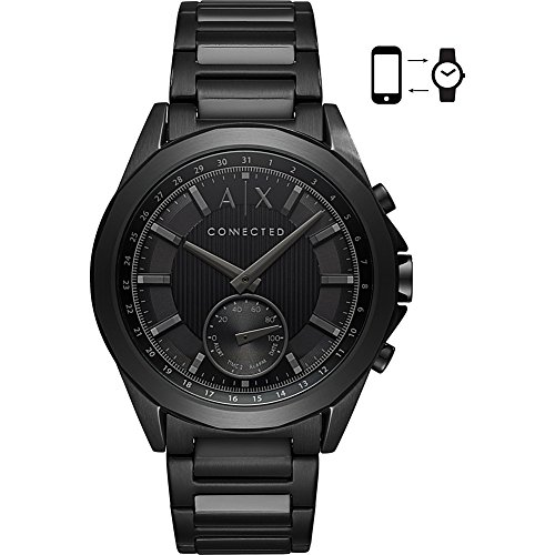Armani Exchange Men's Quartz Stainless Steel Smart Watch, Color:Black (Model: AXT1007) For Sale