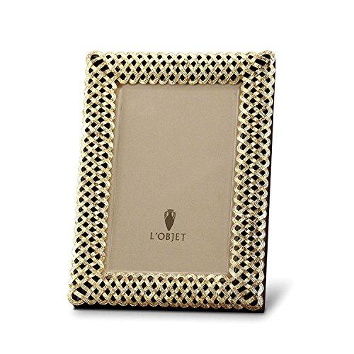 - L'Objet Gold-plated Braid Frame 5X7