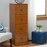 Belham Living Cambridge Filing Cabinet - Light Oak - 4 Drawer