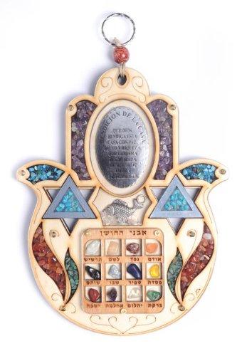 Hoshen Stone Wall Hanging Star Of David Jewish Judaica Hamsa Home Blessing Gift