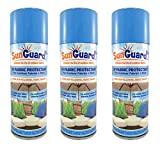 SUNGUARD Fabric UV Protectant and Sealant Spray (3 Pack) for Garden and Home Prevents Fading Spills & Stains