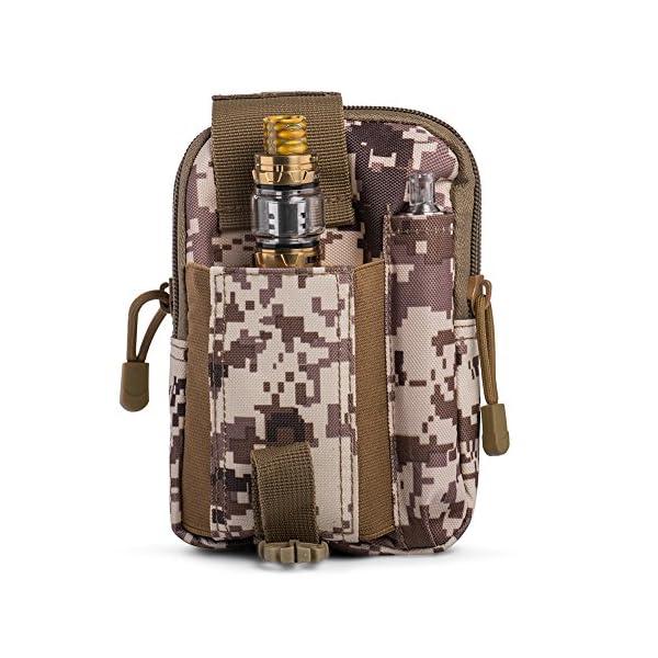 5142e7WPndL Ecigdiy Tactical Molle Tasche Kompakte EDC Mehrzweck-Dienstprogramm Gadget Gürtel Gürteltasche mit Handyholster für…