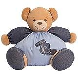 Kaloo Denim Maxi Chubby Bear Plush Toy and PVC Bag