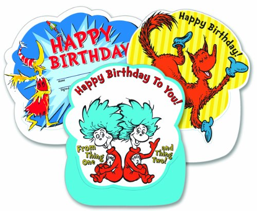 (Eureka Dr. Seuss, Happy Birthday Stand-Up Recognition Cards, 8.5-Inches Tall)