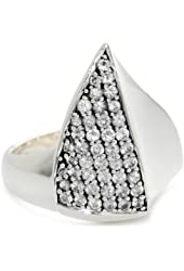 Elizabeth and James Thorns Sterling Silver White Sapphire Large Ring