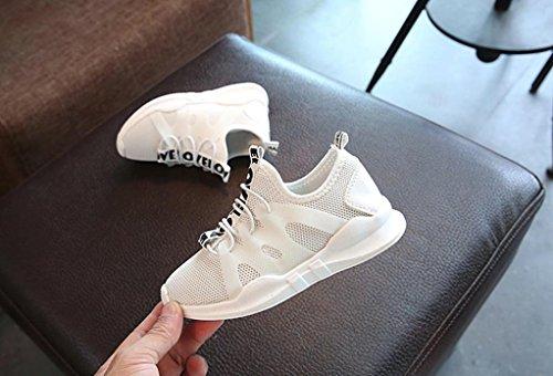 Sunnyoyo 4-11 Jahre alt Nette Kleinkind Kinder Baby Boy Brief Sport Laufschuhe Sneaker Mesh Schuhe Weiß