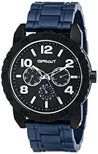 Sprout Men's ST/7006BKNV Multi-Function Tree Bark Dial Navy Corn Resin Bracelet Watch