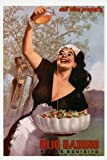 CANVAS FOOD Restaurant Kitchen Art Fashion Italian Lady Olive Oil Olio Radino Salad Milan Milano Italy Italia Food 12'' X 16'' Image Size . Vintage poster on CANVAS. Art Reproduction . We have other sizes Available!