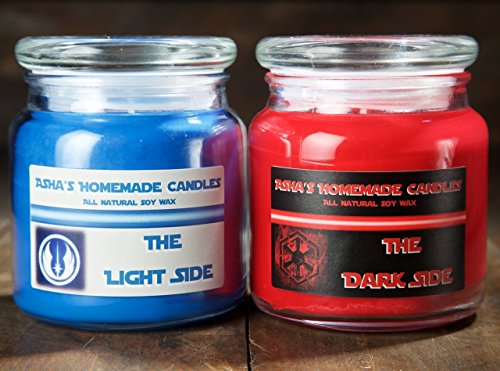 Star Wars Light Side & Dark Side Soy Candles - Set of 2-16 oz. Apothecary Jars