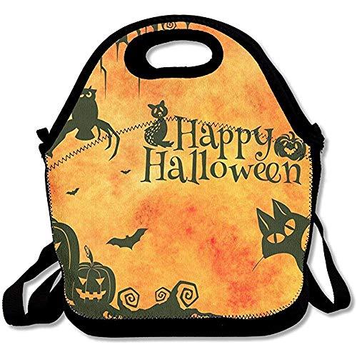 000000 Happy Halloween Sketch Lunch Bag Cool Handbag for School Office ()