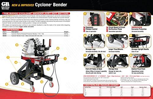 Gardner Bender B2000 Cyclone Electric Powered Bender, ½ - 2 in. EMT, Rigid, Rigid Aluminum & IMC Conduit, & ½ - 1½ in. PVC-Coated Conduit, No Shoe Group, Red & Black by Gardner Bender (Image #6)