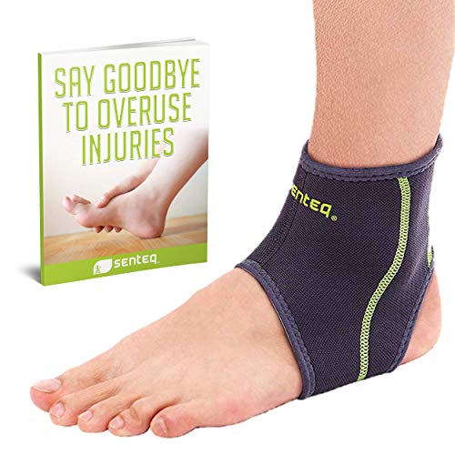 (SENTEQ Ankle Brace - Provides Support, Compression and Pain Relief. Medical Grade and FDA Approved for Sprains, Strains, Arthritis and Torn Tendons in Foot and Ankle (Size Medium))