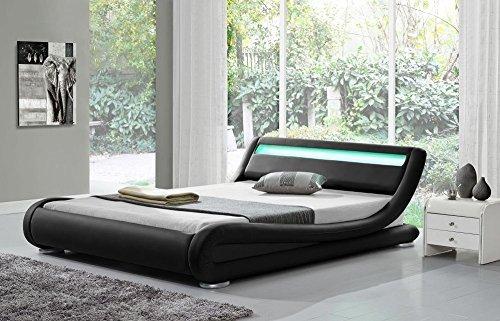 Madrid Black LED (KING) Bed Frame: Amazon.co.uk: Kitchen & Home