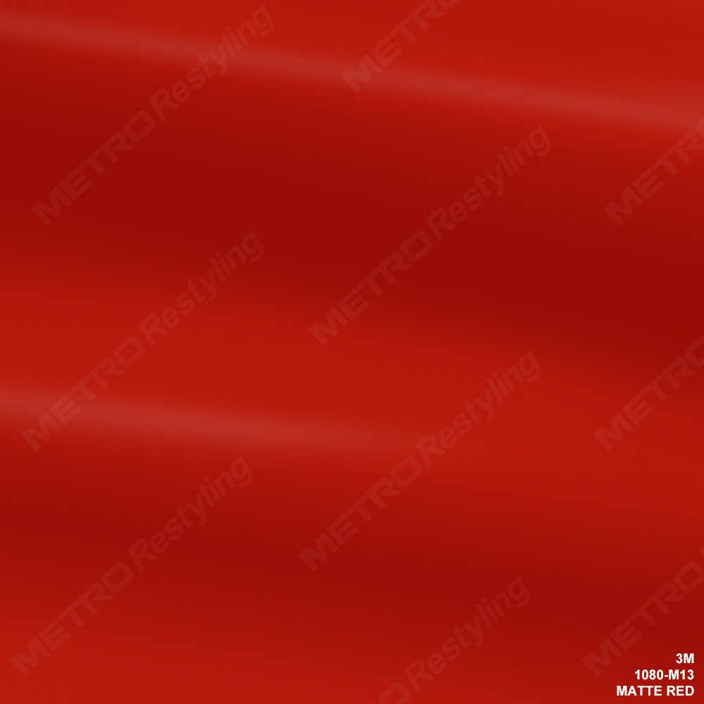 3M 1080 M13 MATTE RED 3in x 5in (SAMPLE SIZE) Car Wrap Vinyl Film