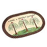 Collections Etc Faith Family Friends Willow Trees Braided Oval Accent Rug