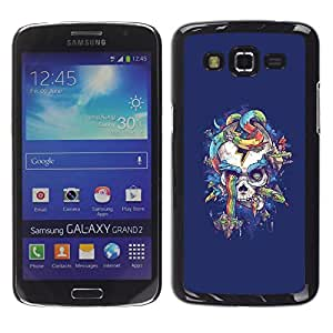 Planetar® ( Purple Skull Snake Rainbow Colors ) Samsung Galaxy Grand 2 Fundas Cover Cubre Hard Case Cover