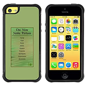 Suave TPU Caso Carcasa de Caucho Funda para Apple Iphone 5C / noble god medieval virtue man green / STRONG
