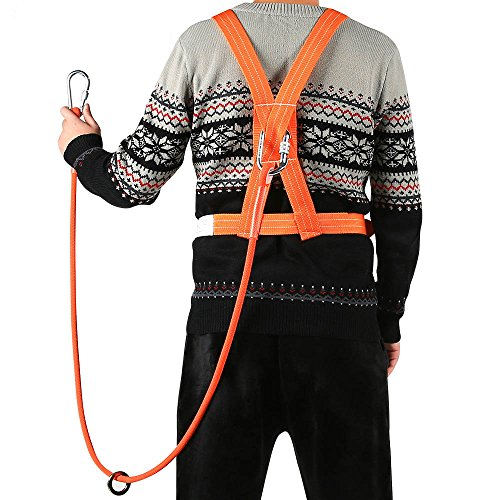 XINDA Outdoor Aerial Protection Belt Anti Falling Safety Hook High Altitude Operation Wear-Resistant Climbing Polesafety Belt (蓝色) by XINDA (Image #3)