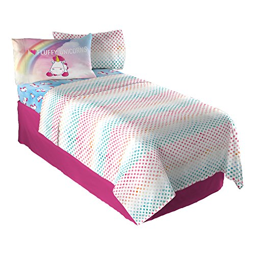 Universal Unicorn Fluffy Rainbows Full Sheet Set