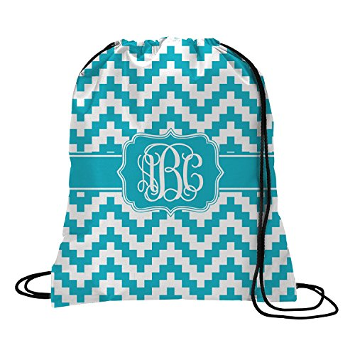 Pixelated Chevron Drawstring Backpack – Large (Personalized) For Sale