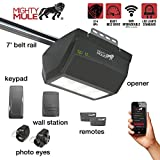 Mighty Mule MM9333H (MM9333) 9000 Series Operator-Single LED Light Smart Garage Door Opener, Black
