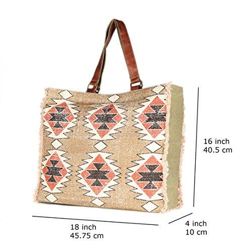 Shopping Bag Tote Brown Stylish Color Handmade Casual Foldaway Large Bag Shoulder Travel Bag Rug Ow8RqF