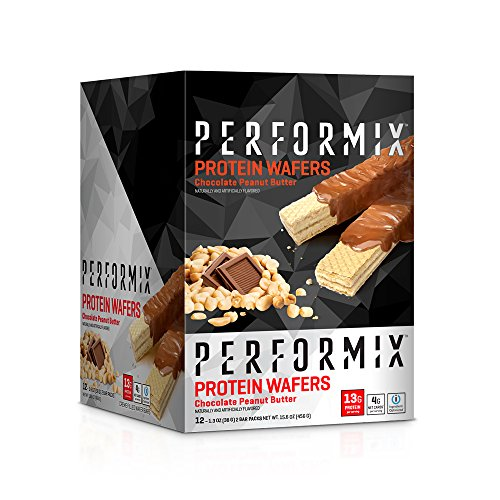 PERFORMIX Protein Wafers, ioProtein Blend 12 count Box, Chocolate Peanut Butter