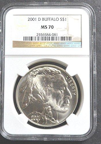 2001 D BUFFALO Commemorative Silver Dollar NGC CERTIFIED -
