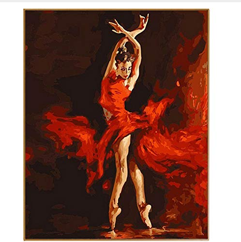 CZYYOU DIY Abstrakte Bild Tänzerin Moderne Bilder Handgemalte Zeichnung Färbung Nach Zahlen Öle Malen Nach Zahlen Wanddekor, Ohne Rahmen, 40x50cm B07NQGPQGK | Genial Und Praktisch