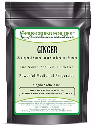 Ginger - 5% Gingerol (HPLC) Natural Root Extract Powder (Zingiber officinale), 4 oz