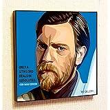 "Obi-Wan ""Ben"" Kenobi Star-Wars Super Hero Motivational Quotes Wall Decals Pop Art Gifts Portrait Framed Famous Paintings on Acrylic Canvas Poster Prints Artwork (10x10"" (25.4cm x 25.4cm))"