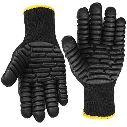 Anti Vibration Work Gloves, Shock Proof Impact Reducing Safety Gloves - Medium