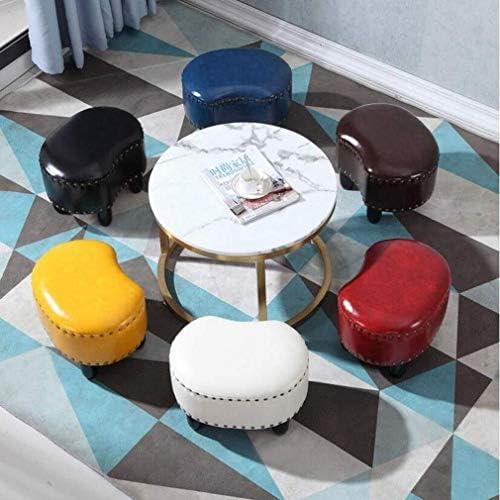 Pouf Rembourré À La Mode En Cuir Tabouret Tabouret Tabouret Canapé Maison Salon Table Basse Petit Banc (couleur: BRUN, Taille: H28cm)