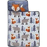 Lambs & Ivy Little Explorer Nap Mat, Blue/Gray/Orange