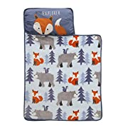 Lambs & Ivy Little Explorer Nap Mat, Blue/Gray/Orange