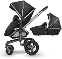 Silver Cross Surf Pushchair and Carrycot, Black