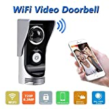 Smart Wireless Doorbell Video Viewer Camera Wi-Fi Enabled Night Vision Intercom Door Viewer for Home Security Monitoring Motion Detection