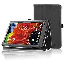 """ACdream RCA Voyager 7 Case, Folio Premium PU Leather Cover Case for RCA Voyager 7"""" 16GB / 8 GB Tablet Android 6.0 (Marshmallow), Black"""