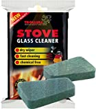 Trollull Cleaner Pads For Stove Glass 2 In A Pack Rakso Stove Glass Cleaner