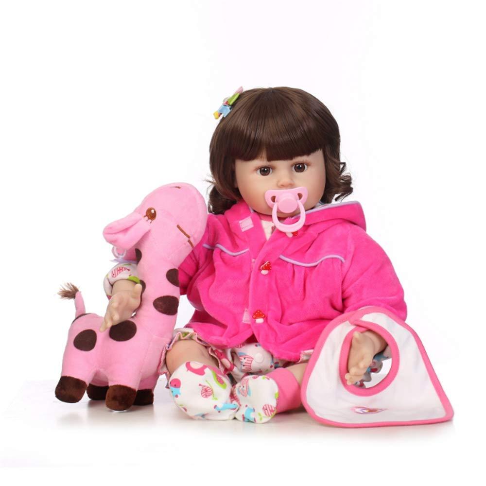 entrega de rayos Muñeca simulacion Rizos Bebé Niña Muñeca Con Juguete Jirafa Ropa Ropa Ropa Accesorios para el cabello Alimentar Juguetes Bib Rewborn Nursery Baby Alive Doll Realista Pretender el papel Jugar a los niños Juguete  alta calidad