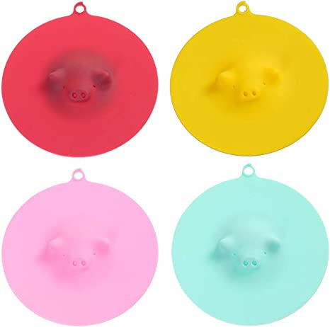 1pc Silicone Cup Cover Silicone Cup Cover Piggy Drinking Coffee Mugs Lid Cover