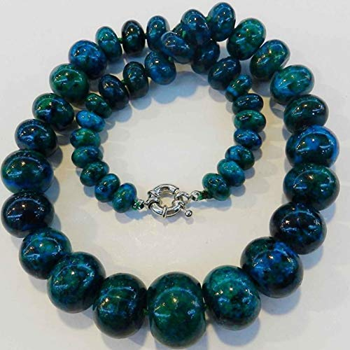 (10-20mm Chrysocolla Abacus Beads Fashion DIY Charms Necklace 17