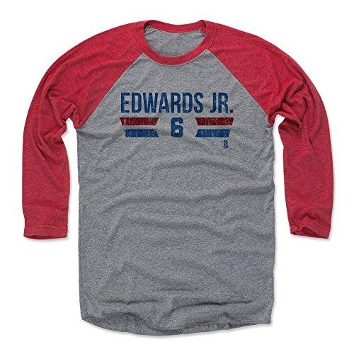 Carl Edwards Jr. Baseball Tee Shirt XXX-Large Red/Heather Gray - Chicago Baseball Raglan Shirt - Carl Edwards Jr. Chicago Font B