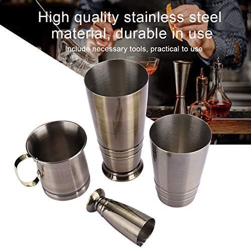 Cocktail Shaker Set Bronze Farbe, Edelstahl Boston Cocktail Shaker Kit, Messbecher Set Barkeeper Werkzeug Zubehör Kit - 3St