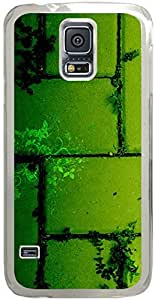 Chevron Retro Vintage Tribal Nebula Pattern Galaxy S5 Cases - Compatible With Samsung Galaxy S5 SV i9600 - Hard Shell Transparent Samsung Galaxy S5 SV i9600 Cover Cases Green Cliff