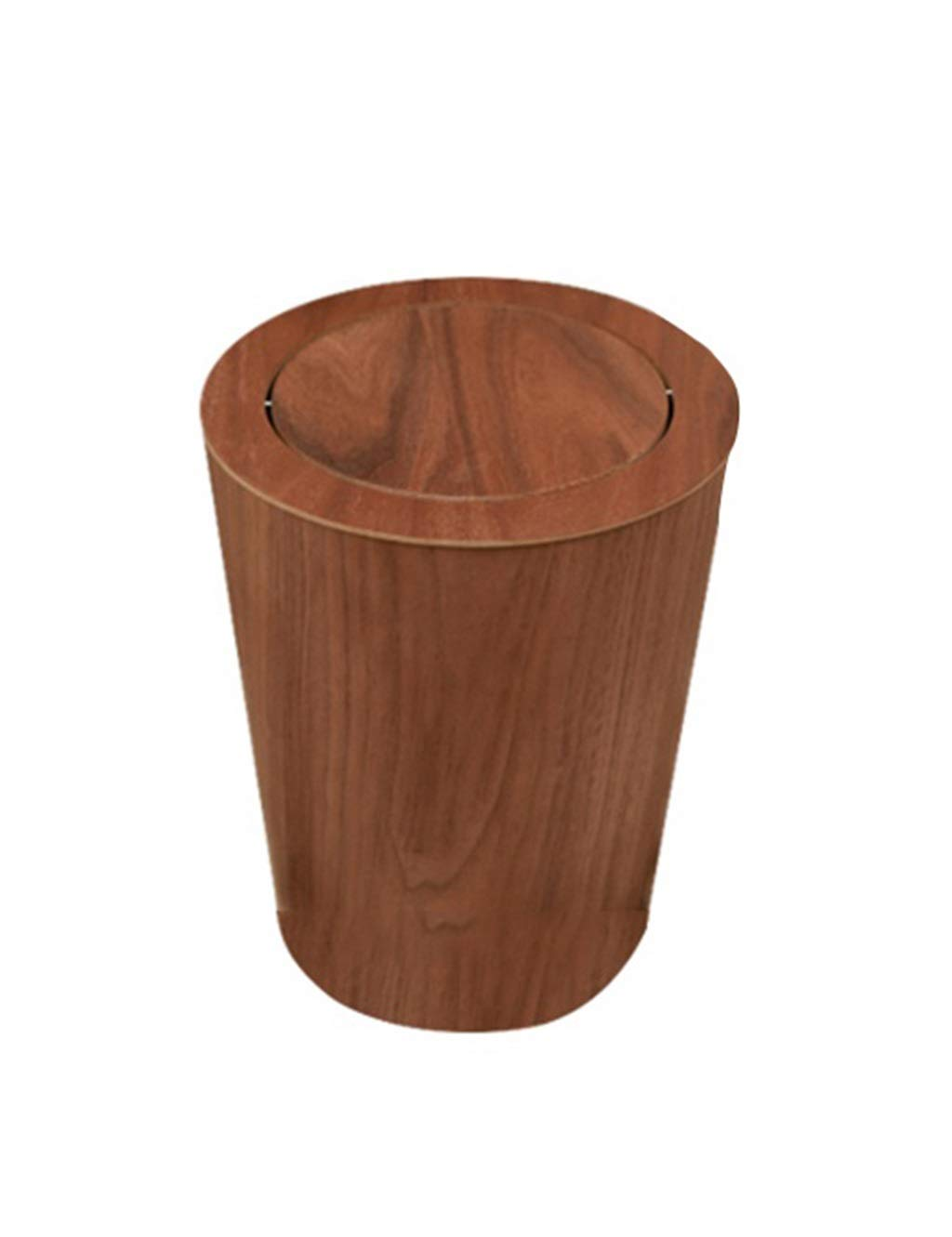 Liex-trash can with Lid/Swing Trash Can, Simple Wooden Material, Living Room Bedroom Wastebasket (23×23×30 cm)